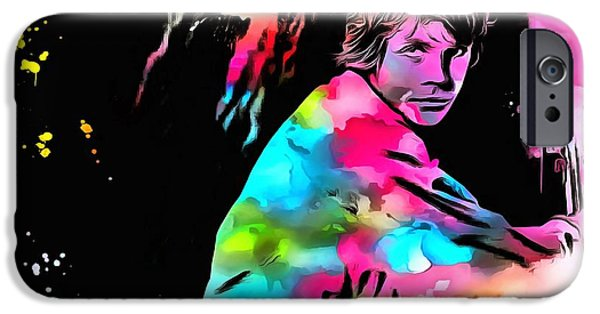 Young Mixed Media iPhone Cases - Luke Skywalker Paint Splatter iPhone Case by Dan Sproul