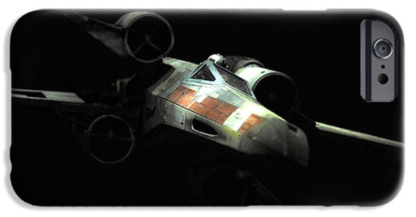 Jet Star iPhone Cases - Lukes original X-Wing iPhone Case by Micah May