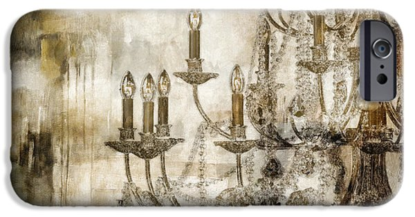 Chandelier iPhone Cases - Lumieres II iPhone Case by Mindy Sommers