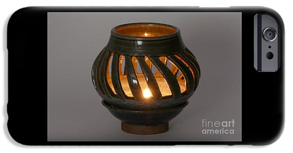 Hand Thrown Pottery Ceramics iPhone Cases - Luminaire iPhone Case by Alan M Thwaites
