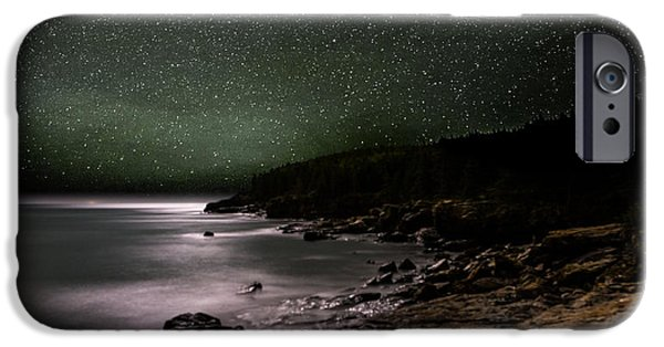 Recently Sold -  - Maine iPhone Cases - Lunar Eclipse over Great Head iPhone Case by Brent L Ander