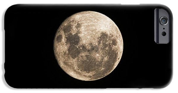 Lunar iPhone Cases - Lunar Perigee iPhone Case by Andrew Paranavitana