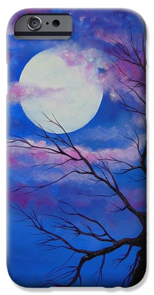 Moonscape iPhone Cases - Lunar Serenity iPhone Case by Dan  Whittemore