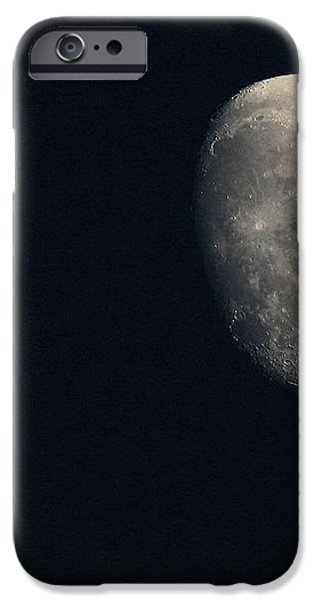 Lunar Surface iPhone Case by Angela Rath