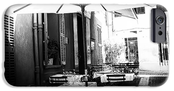 The White House Photographs iPhone Cases - Lunch in the Back Streets - Square iPhone Case by Nomad Art And  Design