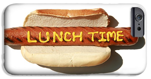 Hot Dogs iPhone Cases - Lunch Time iPhone Case by Michael Ledray
