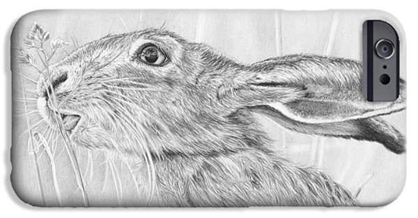 March Hare iPhone Cases - Lunchtime Munchtime iPhone Case by Frances Vincent
