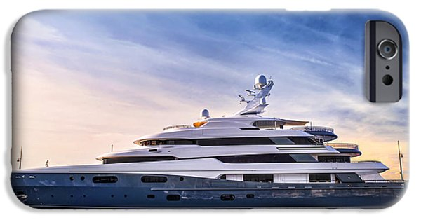 Boats iPhone Cases - Luxury yacht iPhone Case by Elena Elisseeva