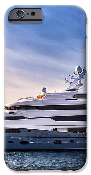 Luxury yacht iPhone Case by Elena Elisseeva