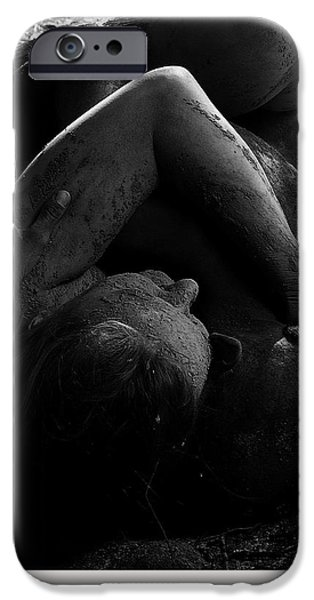 Celebrities Art iPhone Cases - Luzia / 117 iPhone Case by Jean-Marie Bottequin