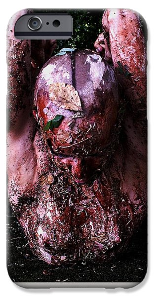 Celebrities Art iPhone Cases - Luzia / 186 iPhone Case by Jean-Marie Bottequin