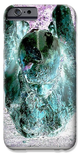 Elephants iPhone Cases - Luzia / 186_2 iPhone Case by Jean-Marie Bottequin