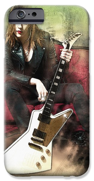 Michael iPhone Cases - Lzzy Halestorm  iPhone Case by Don Kuing