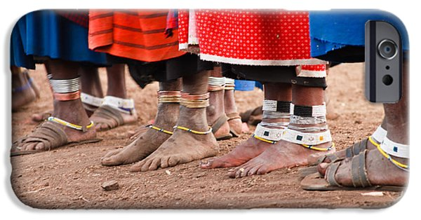 Village iPhone Cases - Maasai Feet iPhone Case by Adam Romanowicz