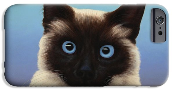 Kitten iPhone Cases - Machka 2001 iPhone Case by James W Johnson