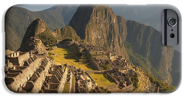 Mountain Valley iPhone Cases - Machu Picchu At Dawn Near Cuzco Peru iPhone Case by Colin Monteath
