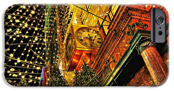 Macy iPhone Cases - Macys Christmas Lights iPhone Case by Randy Aveille