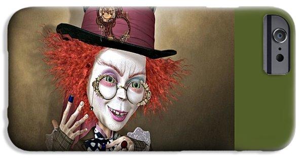 Mad Hatter iPhone Cases - Mad Hatter iPhone Case by G Berry