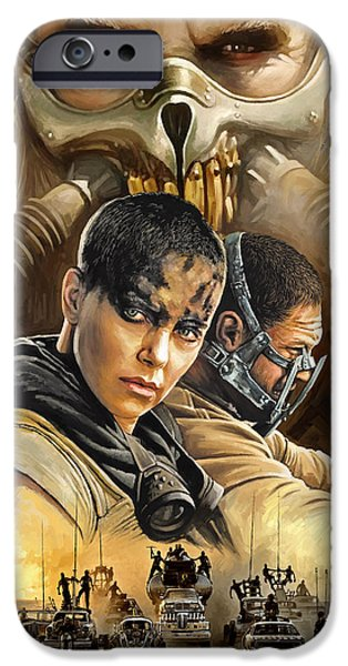 Mad iPhone Cases - Mad Max Fury Road Artwork iPhone Case by Sheraz A