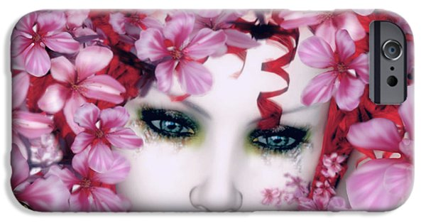 Lips Digital Art iPhone Cases - Madame Butterfly iPhone Case by Shanina Conway