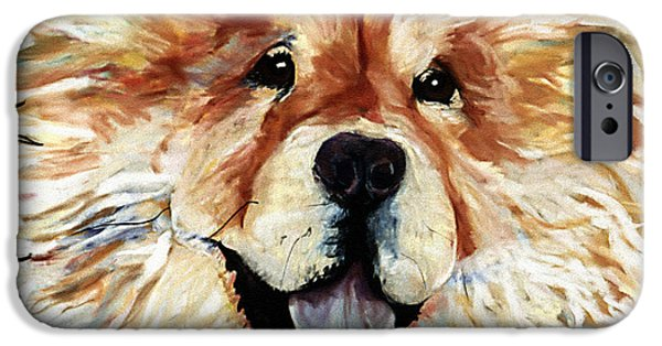 Puppy Pastels iPhone Cases - Madame Chu Cho iPhone Case by Pat Saunders-White