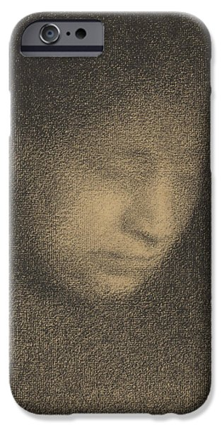 Seurat iPhone Cases - Madame Seurat the Artists Mother iPhone Case by Georges-Pierre Seurat