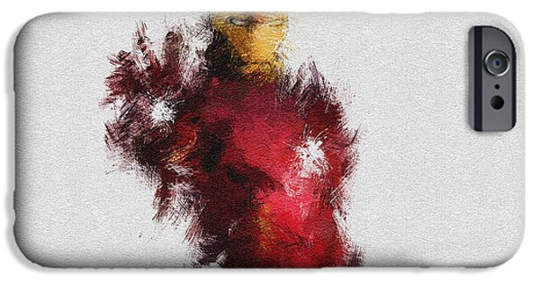 Watercolour Art iPhone Cases - Made of Iron iPhone Case by Miranda Sether