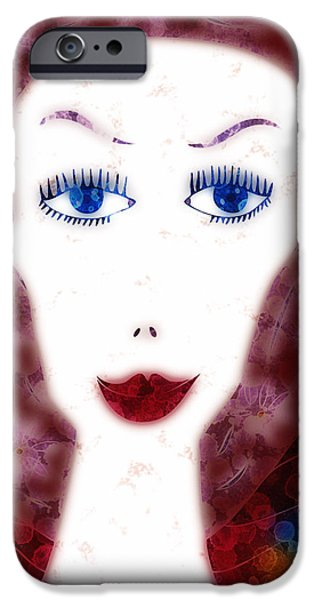 Drips Paintings iPhone Cases - Mademoiselle iPhone Case by Frank Tschakert