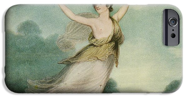 Ballet Dancers Drawings iPhone Cases - Mademoiselle Parisot, C. 1775 iPhone Case by Ken Welsh