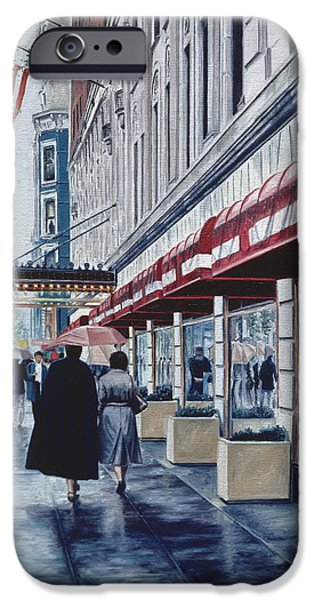Store Fronts Paintings iPhone Cases - Madison Avenue iPhone Case by Anthony Butera