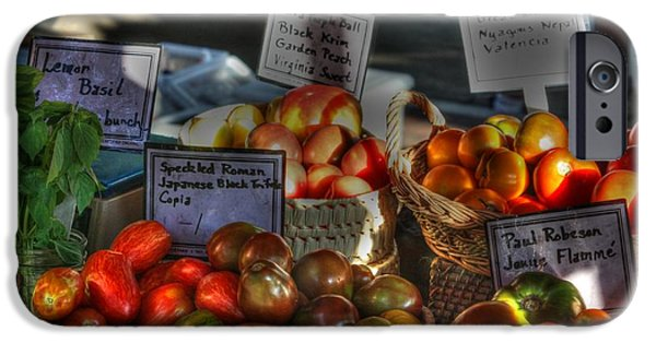 Fresh Produce iPhone Cases - Madison Heirlooms iPhone Case by David Bearden