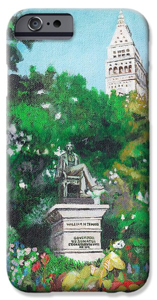 Flower Of Life iPhone Cases - Madison Square Park iPhone Case by Deanna Yildiz