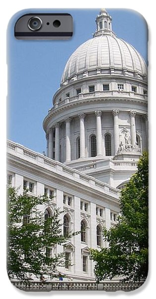 Madison WI State Capitol iPhone Case by Anita Burgermeister