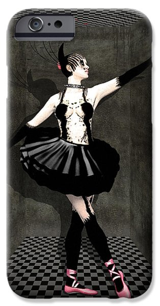 Ballerina Drawings iPhone Cases - Madness By Quim Abella iPhone Case by Joaquin Abella