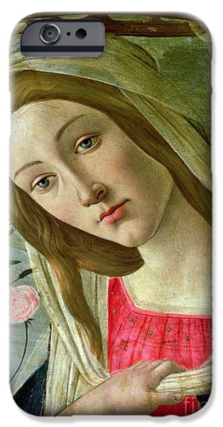 Little iPhone Cases - Madonna and Child Crowned by Angels iPhone Case by Sandro Botticelli
