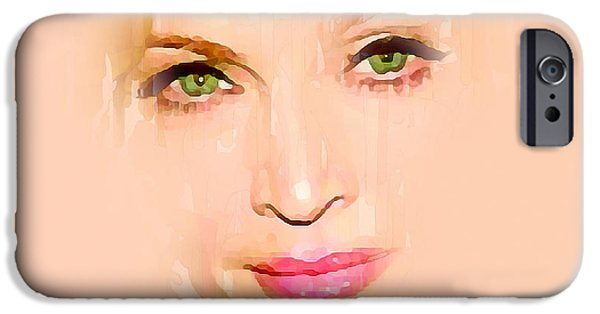 Madonna Digital Art iPhone Cases - Madonna Fading iPhone Case by Yury Malkov
