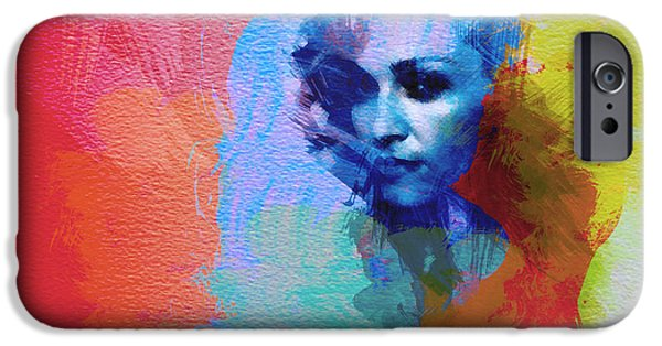 Papa iPhone Cases - Madonna iPhone Case by Naxart Studio