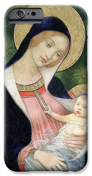 Religious iPhone Cases - Madonna of the Fir Tree iPhone Case by Marianne Stokes