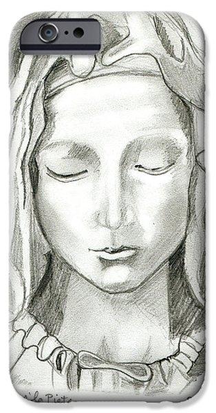 Michaelangelo iPhone Cases - Madonna Of The Pieta iPhone Case by John Keaton