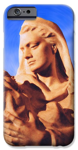 Madonna with Christ Child iPhone Case by Kristin Elmquist