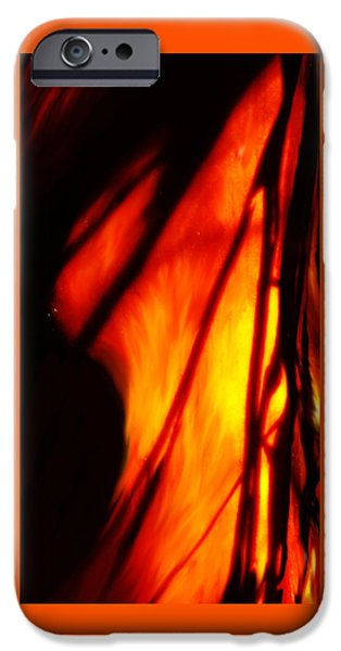 Bad Ass iPhone Cases - Madrone In Flames iPhone Case by Wendy Rickwalt