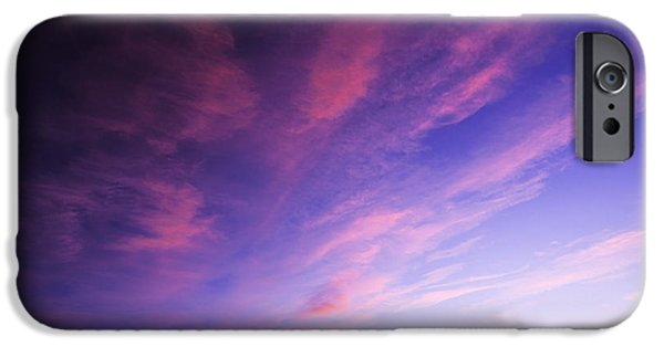 Silhoette iPhone Cases - Magenta explosion in Boise Idaho USA iPhone Case by Vishwanath Bhat