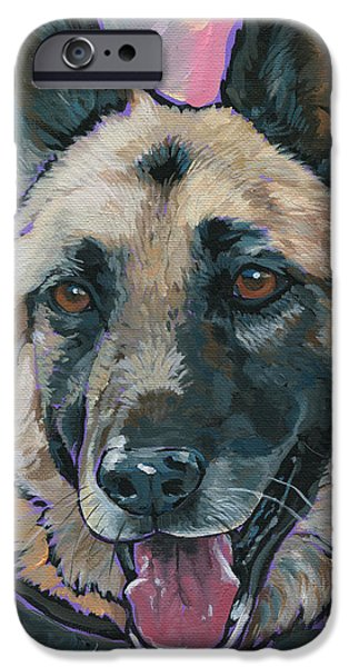 Nadi Spencer iPhone Cases - Maggie iPhone Case by Nadi Spencer