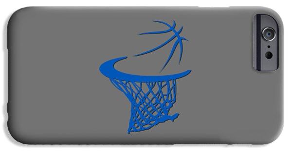 Orlando Magic iPhone Cases - Magic Basketball Hoop iPhone Case by Joe Hamilton