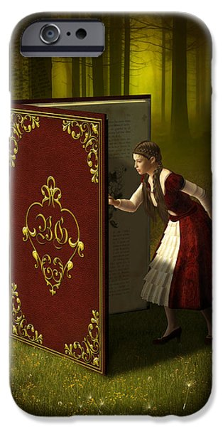Nature Study iPhone Cases - Magic Book of Tales iPhone Case by Britta Glodde
