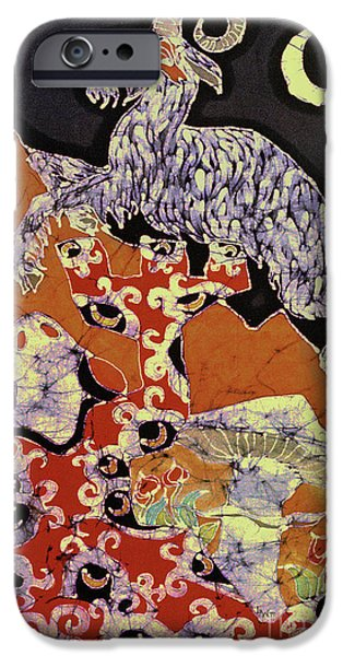 Mountain Tapestries - Textiles iPhone Cases - Magic Frog with Goat iPhone Case by Carol  Law Conklin