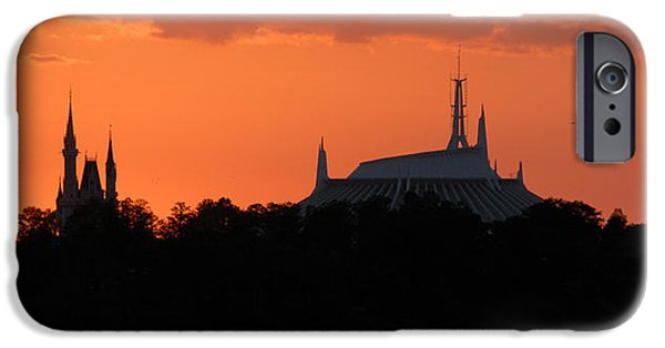 Magic Kingdom iPhone Cases - Magic Kingdom pano work 9 iPhone Case by David Lee Thompson