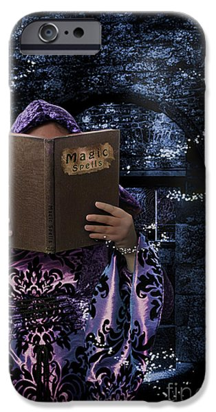 Witches iPhone Cases - Magic Spells Book iPhone Case by Amanda And Christopher Elwell