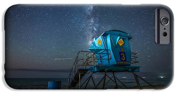 Beach At Night iPhone Cases - Magical Beach  iPhone Case by Art K