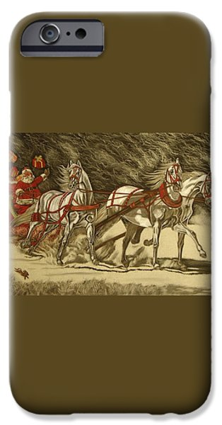 Magical Christmas iPhone Case by Melita Safran